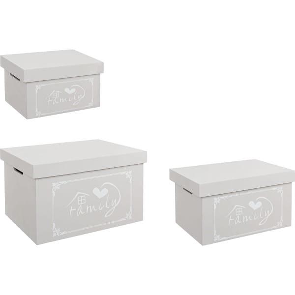 Schachtel Lovers Set (3-tlg) grau