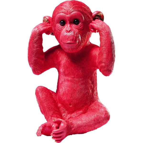 Spardose Monkey Kikazaru Red