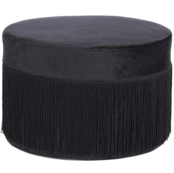 Pouf Leilani schwarz 45x45