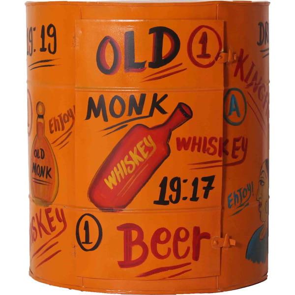 Wandschrank Barrel 57x29x63 orange