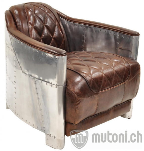 Vintage Leder Sessel Hudson 71cm