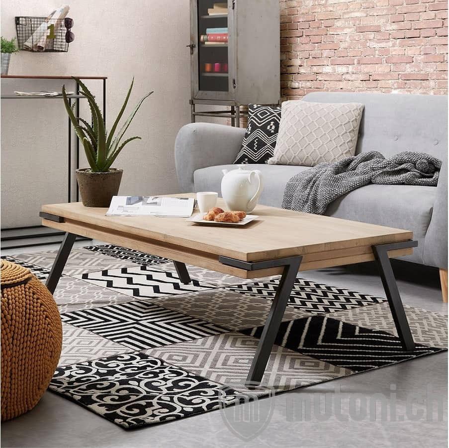 Tavolino rovere rustico 110x60 | Tavolini | Caffè e ...