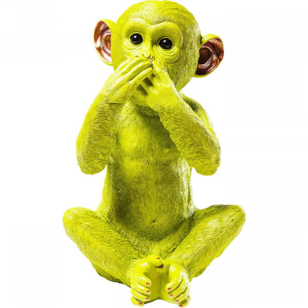 Spardose Monkey Iwazaru Lime
