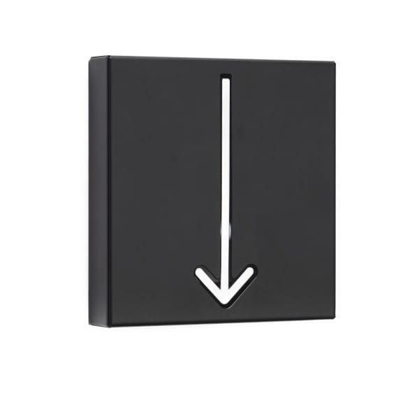 Wandgarderobe Arrow schwarz