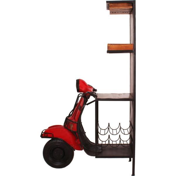 Barschrank Roller rot 46x98x190