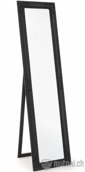 Spiegel Miro schwarz matt 40x160