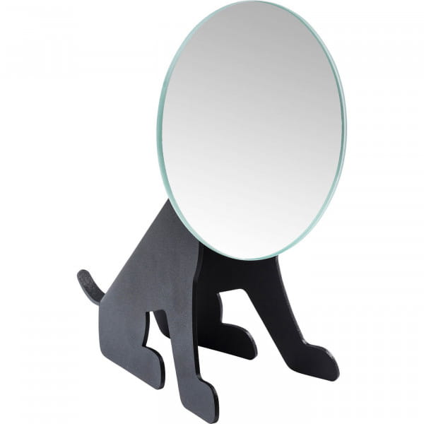 Tischspiegel Dog Face Schwarz
