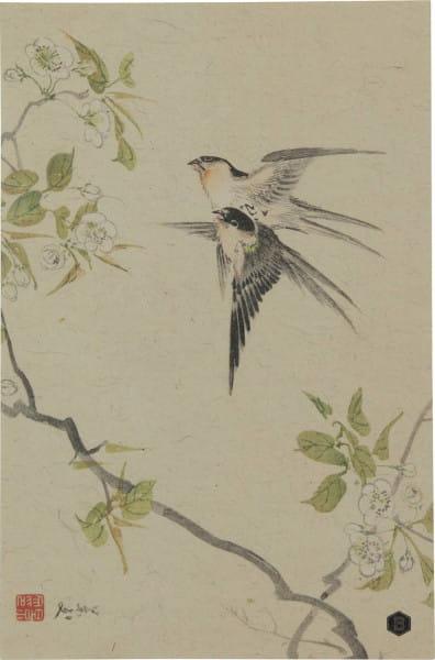 Poster Swallows XL 47x32cm