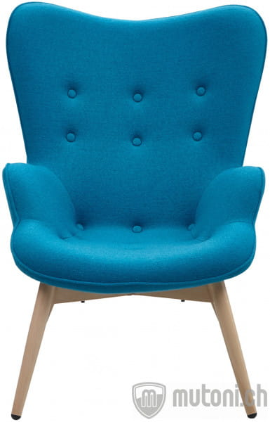 Sessel blau Webstoff