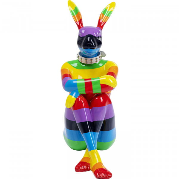Deko Objekt Sitting Rabbit Rainbow 80