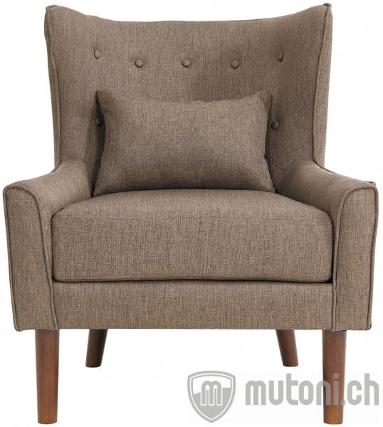 Ohrensessel taupe Stoff