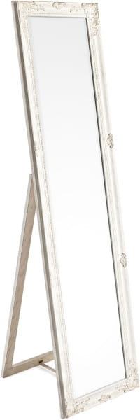Standspiegel Miro mit Rahmen weiss 40x160