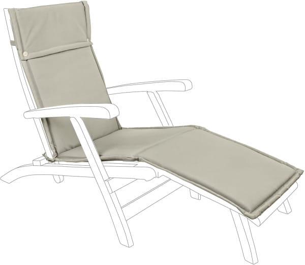 Kissen für Liegestuhl Steamer beige