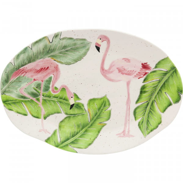 Teller Flamingo Holidays Oval 40cm