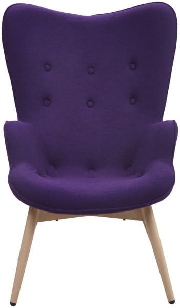 Sessel lila Webstoff