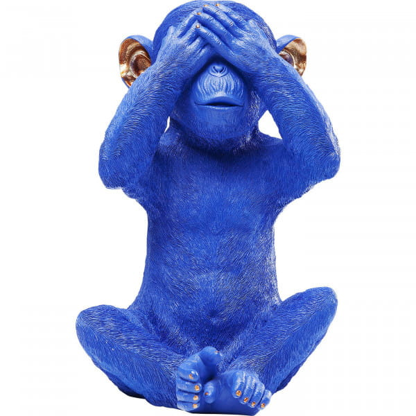 Spardose Monkey Mizaru Blue